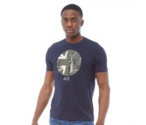 Union Jack Circle Grafik T-Shirt Dunkelnavy