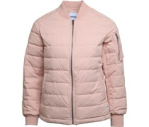 Womens Oversized MA-1 Down Bomber Jacket Pink/Silver