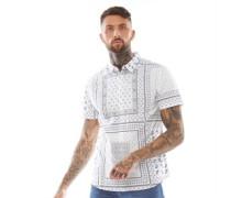 Albedo Hemd mit kurzem Arm Weiß