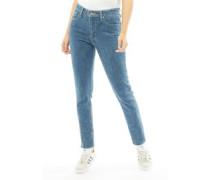721 High Rise Skinny Jeans Denimmeliert