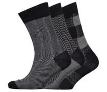 Royal Approach Drei Pack Socken Schwarz