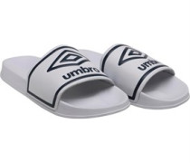 Mens Beach Pool Sliders White/Dark Navy