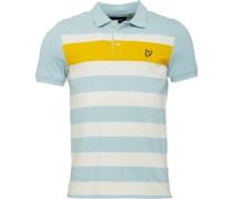 Texturiert Stripe Polohemd