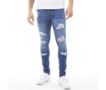 Leyland Rip Skinny Jeans Dunkel