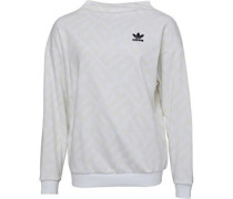Womens All Over Print Sweatshirt White/White