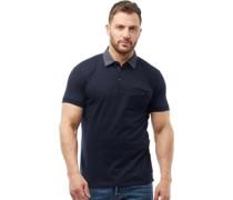 Collar Polohemd Navy/Weiß