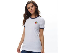 Womens Fries T-Shirt White/Navy