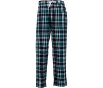 Karo Pyjamahose Grün