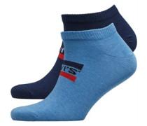 168Sf Sportswear Logo Zwei Pack Socken Navy