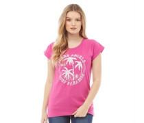 Druck T-Shirt Rosa