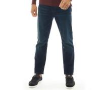 Biker Jeans mit geradem Bein Dunkel