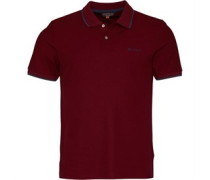 SS 2B Tipped Pique Polohemd Rot