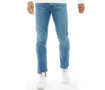 Line 8 Slim Jeans mit zulaufendem Bein Mittel