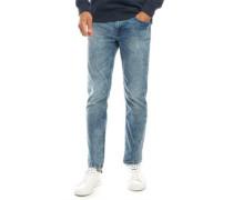 Warp Skinny Jeans Verbleichtes Denim