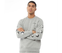 Star Chevron Grafik Sweatshirt meliert