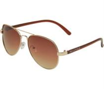 Aviator Sonnenbrille Braun