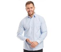 Baumwolle Oxford Hemd mit langem Arm Hell
