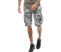 Mens Utility Twill Cargo Shorts Grey Camo