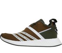 x White Mountaineering Footwear NMD_R2 Primeknit Sneakers Olivengrün