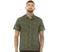 Fern Print Resort Hemd mit kurzem Arm Olivengrün