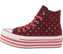 CT All Star Hi Platform Polka Dots Sneakers