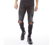 Tom Original AM 847 Skinny Jeans Verblastes  Denim