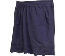 Baumwolle Broderie Anglaise Shorts Navy