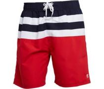 Herren Boardshorts Navy/Weiß/Rot