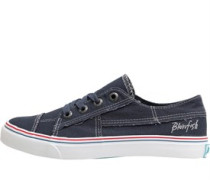 Womens Pacific Canvas Trainers Navy Washed