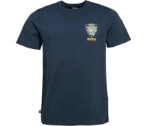 ZYPD Badge Grafik T-Shirt Navy