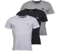 Baxter Drei Pack T-Shirt Schwarz