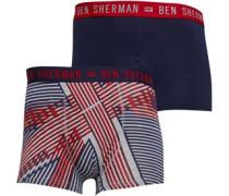 Bowler Zwei Pack Boxershorts Navy
