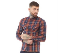 Chester Hemd mit langem Arm Dunkelrot