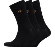 Astley Drei Pack Socken Schwarz