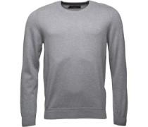 Pullover mit Rundhalsausschnitt Hellmeliert
