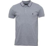 Tipped Polohemd Hellmeliert/Navy/Weiß
