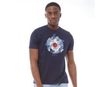 Target Chevron Gingham T-Shirt Dunkelnavy