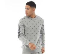 Star Chevron Druck Grafik Sweatshirt meliert