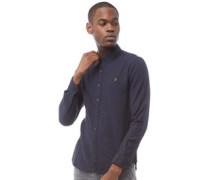 Kreo Hemd mit Button-Down Kragen Navymeliert