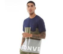 Star Chevron Wordmark T-Shirt Navy