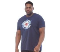 Übergröße Target Chevron Gingham T-Shirt Dunkelnavy