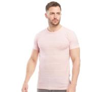 Streifen Print T-Shirt Hellrosa