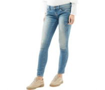 Midge Zip Low Super Skinny Jeans Mittel