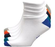 Jetta Fünf Pack Sneaker Socken Weiß