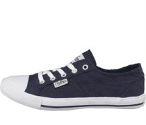 Broderie Anglaise Freizeit Schuhe Navy