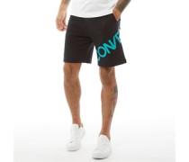 Grafik Jersey Shorts Schwarz