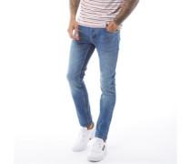 True Denim Jeans in Slim Passform Stonewash