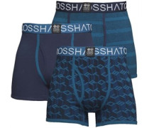 Causeway Drei Pack Boxershorts Blautöne