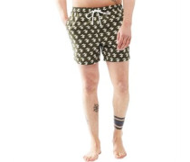 Mens Presley Swim Shorts Khaki/White