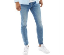 Type C 3D Super Jeans in Slim Passform Verblasstes Hell